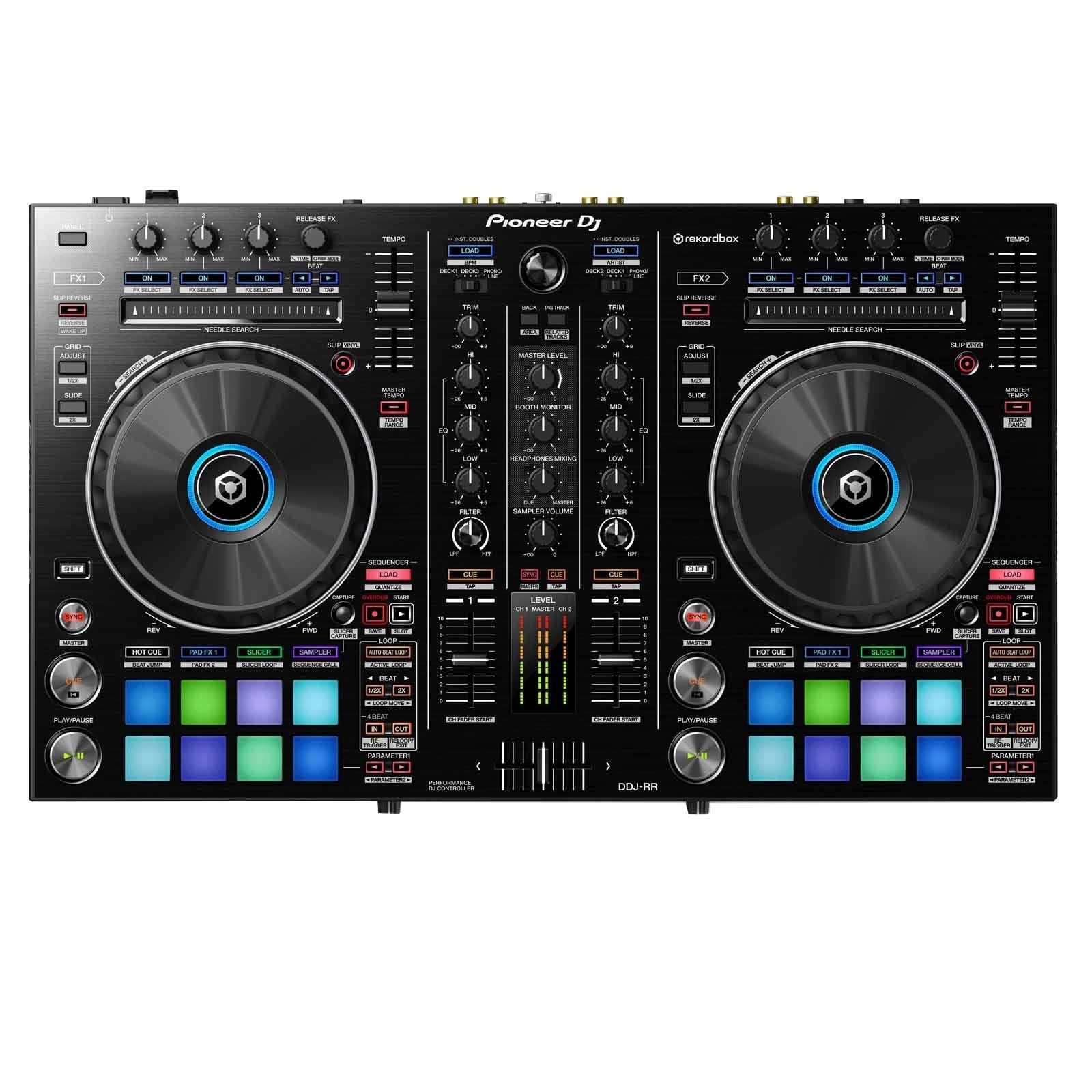 pioneer ddj rr portable 2 channel controller for rekordbox