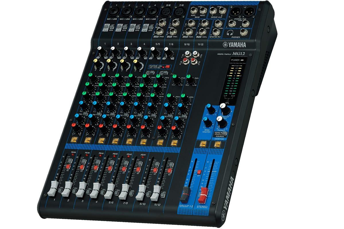 Yamaha mg12 12 input mixer demo unit prosoundgear for Yamaha mg12 case