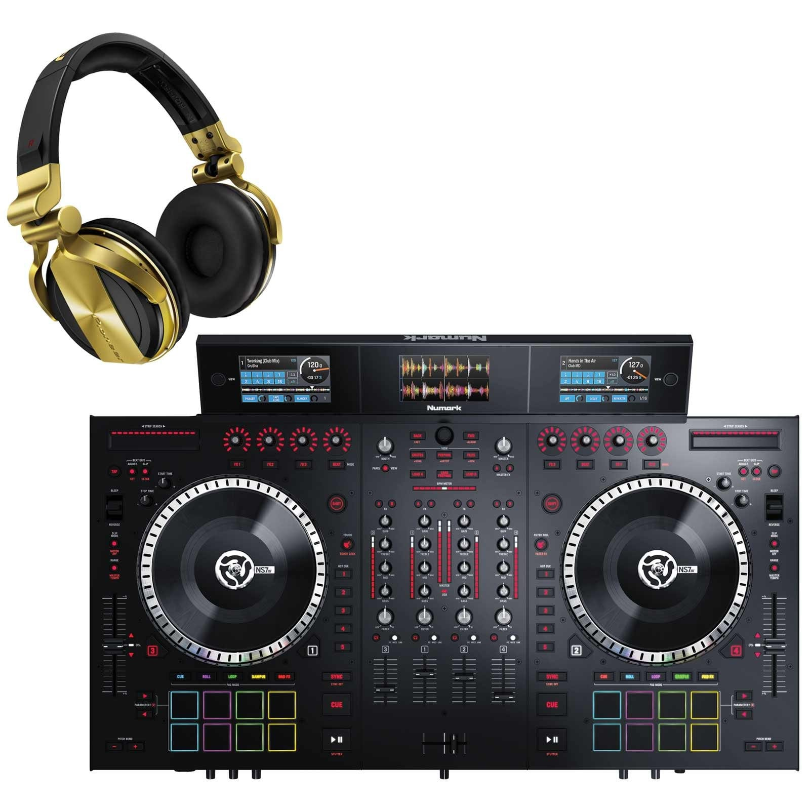 Numark NS7III 4-Channel Motorized DJ Controller & Mixer with