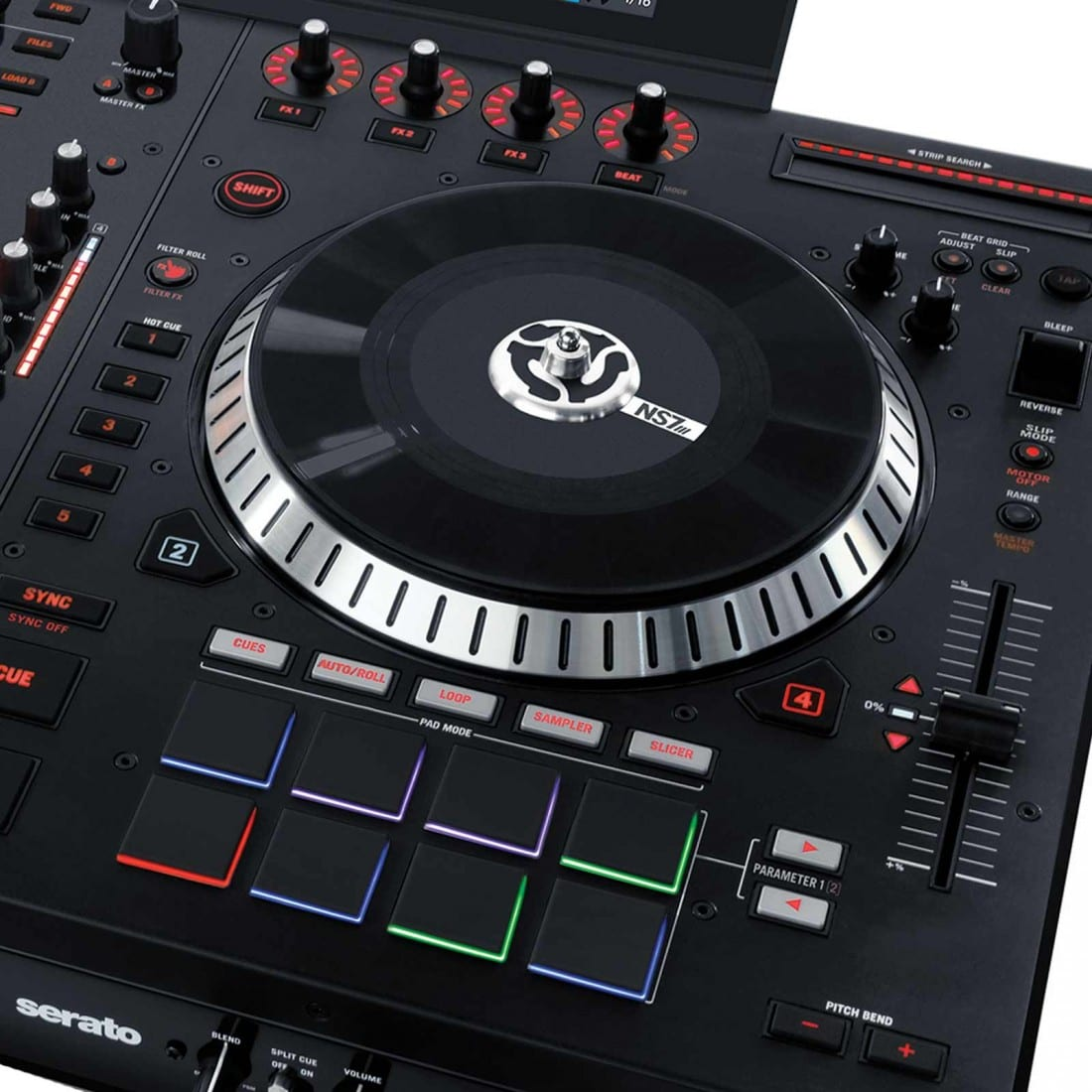Numark NS7III 4-Channel Motorized Serato DJ Controller and