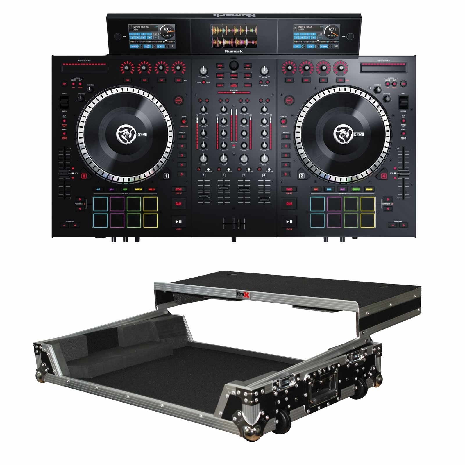 numark-ns7iii-4-channel-motorized-serato-dj-controller-and-mixer-with-screens-flight-case-package-