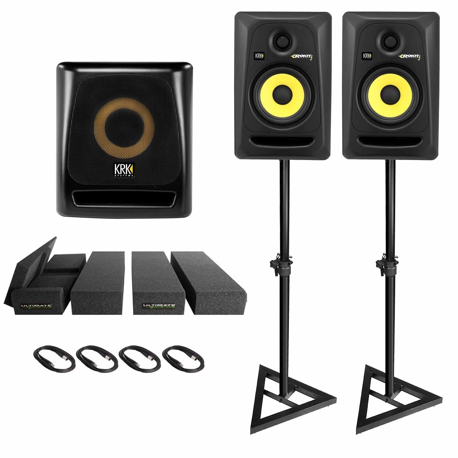 2-krk-rokit-5-g3-rp5g3-5-powered-studio-monitor-speakers-with-krk-8s2-v2-powered-8-studio-subwoofer-package-5b8