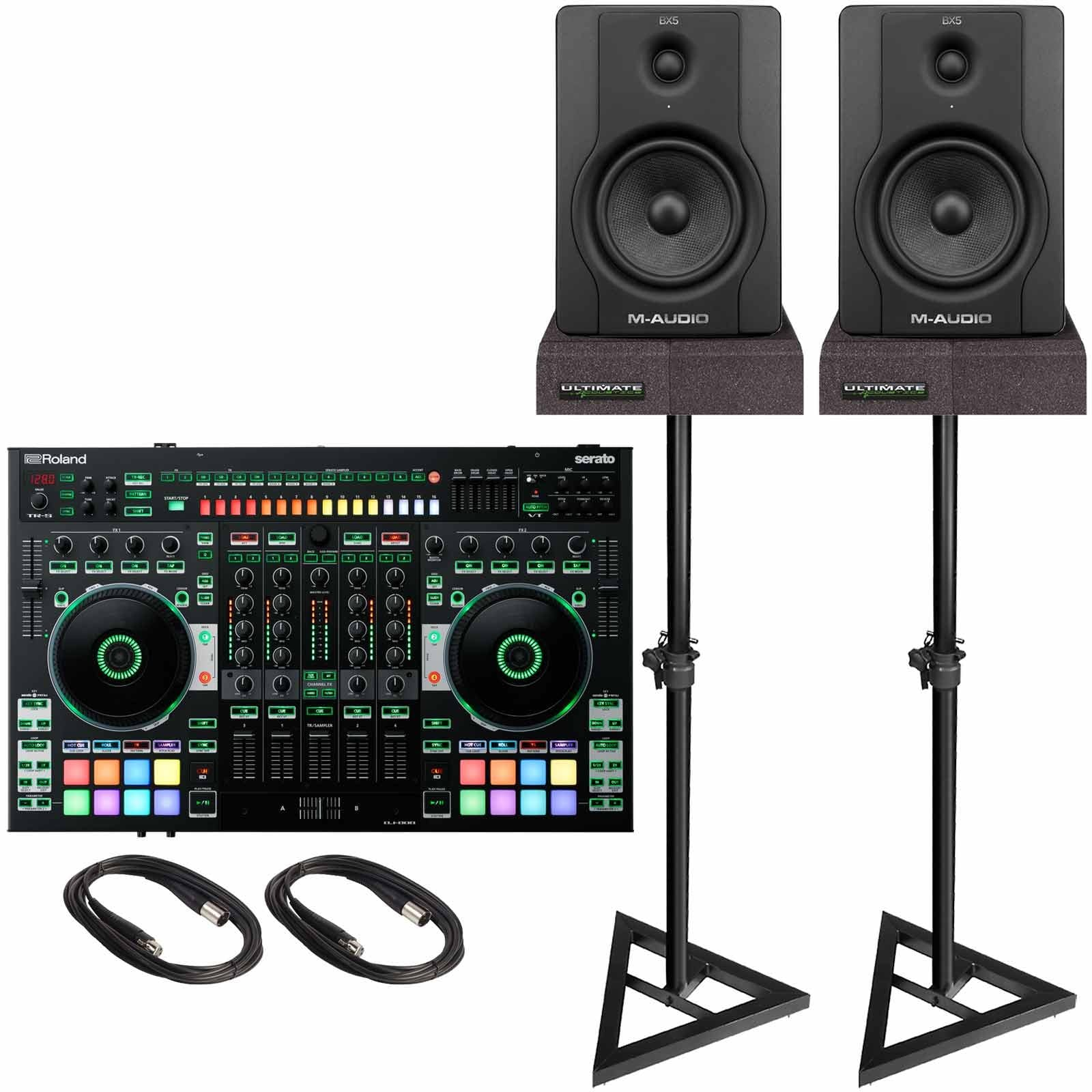 Roland DJ-808 4-Channel Mixer & DJ Controller with M-Audio ...