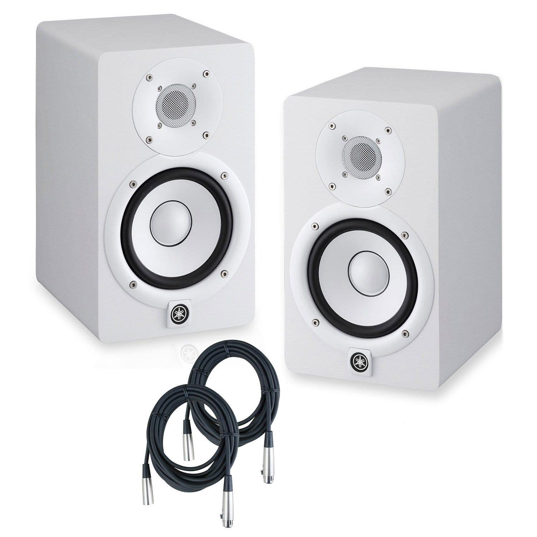 Yamaha hs8 powered studio monitors pair white w strukture for Yamaha hs8 studio monitor speakers