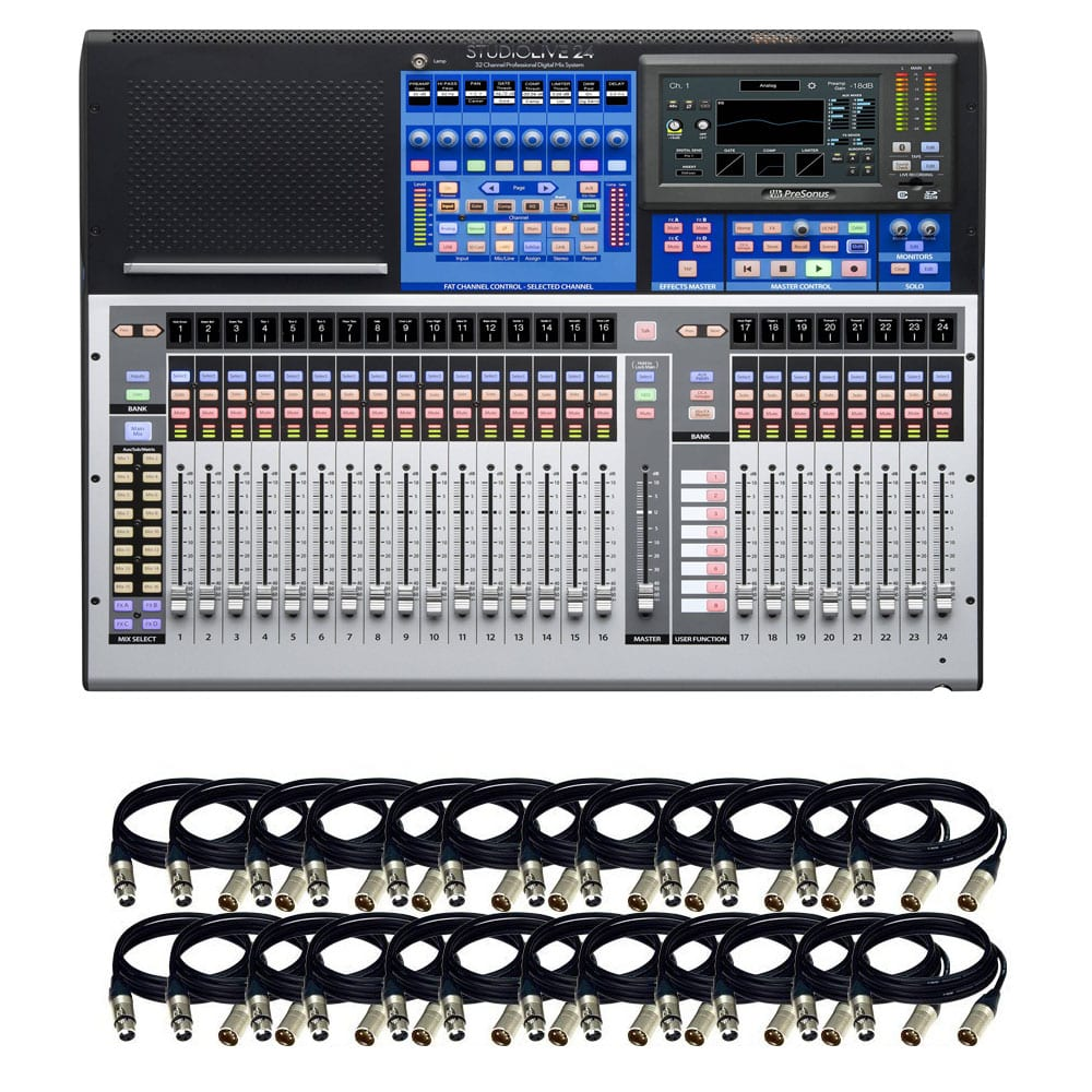 Presonus studiolive 24 series iii digital mixer 32 input for Firewire mixer motorized faders
