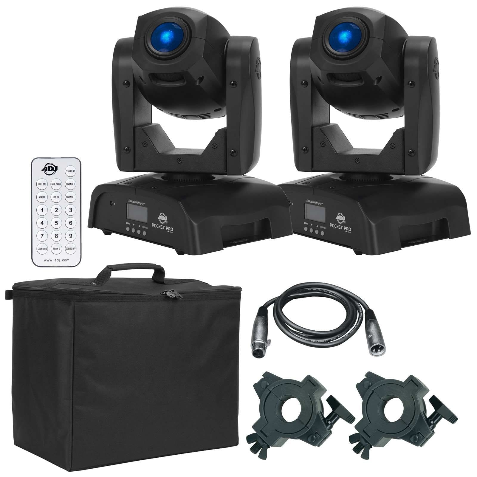 2-american-dj-pocket-pro-high-output-mini-moving-heads-with-uc-ir-universal-remote-control-package-b