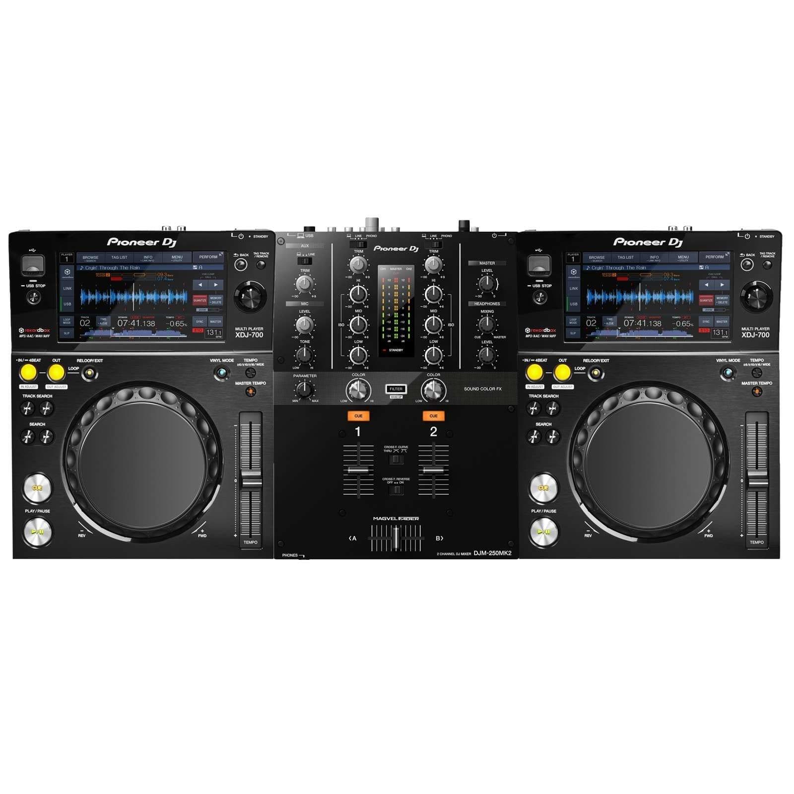pioneeer-djm-250mk2-2-channel-mixer-with-2-pioneer-xdj-700-compact-digital-decks-pro-dj-package-82c