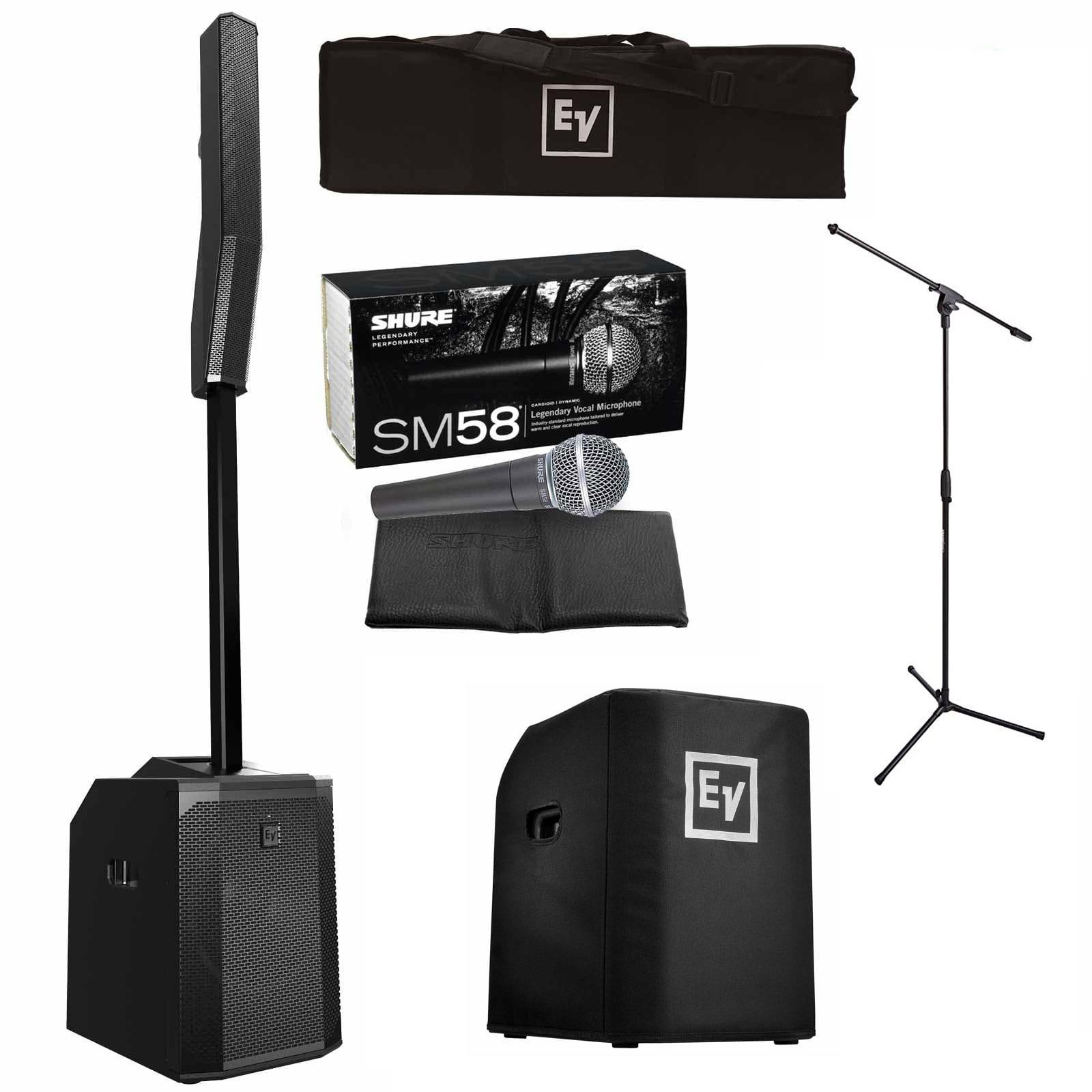 electro voice evolve 50 portable column bluetooth pa system package prosoundgear. Black Bedroom Furniture Sets. Home Design Ideas