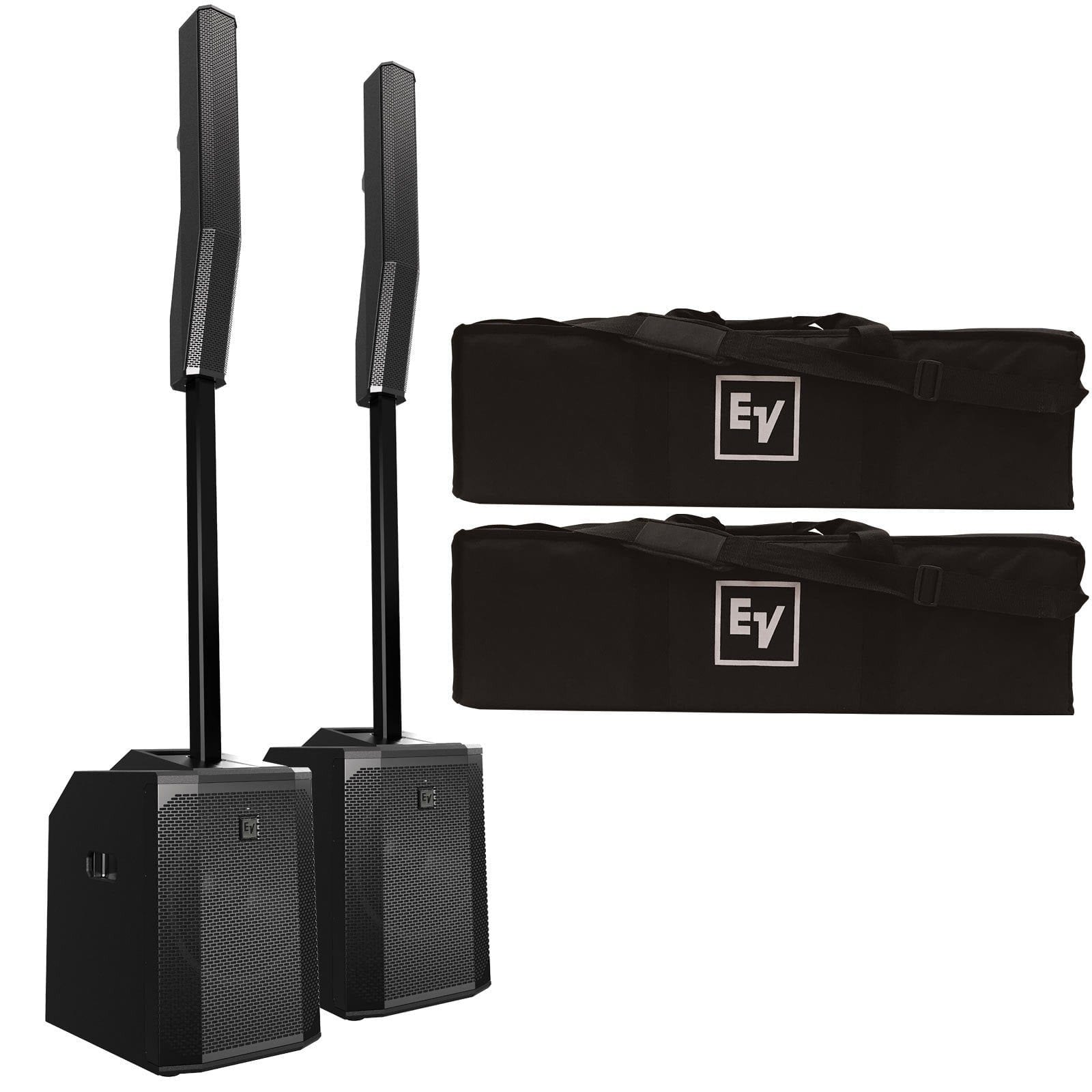 electro-voice-evolve-50-portable-column-pa-system-with-bluetooth-duo-package-b86