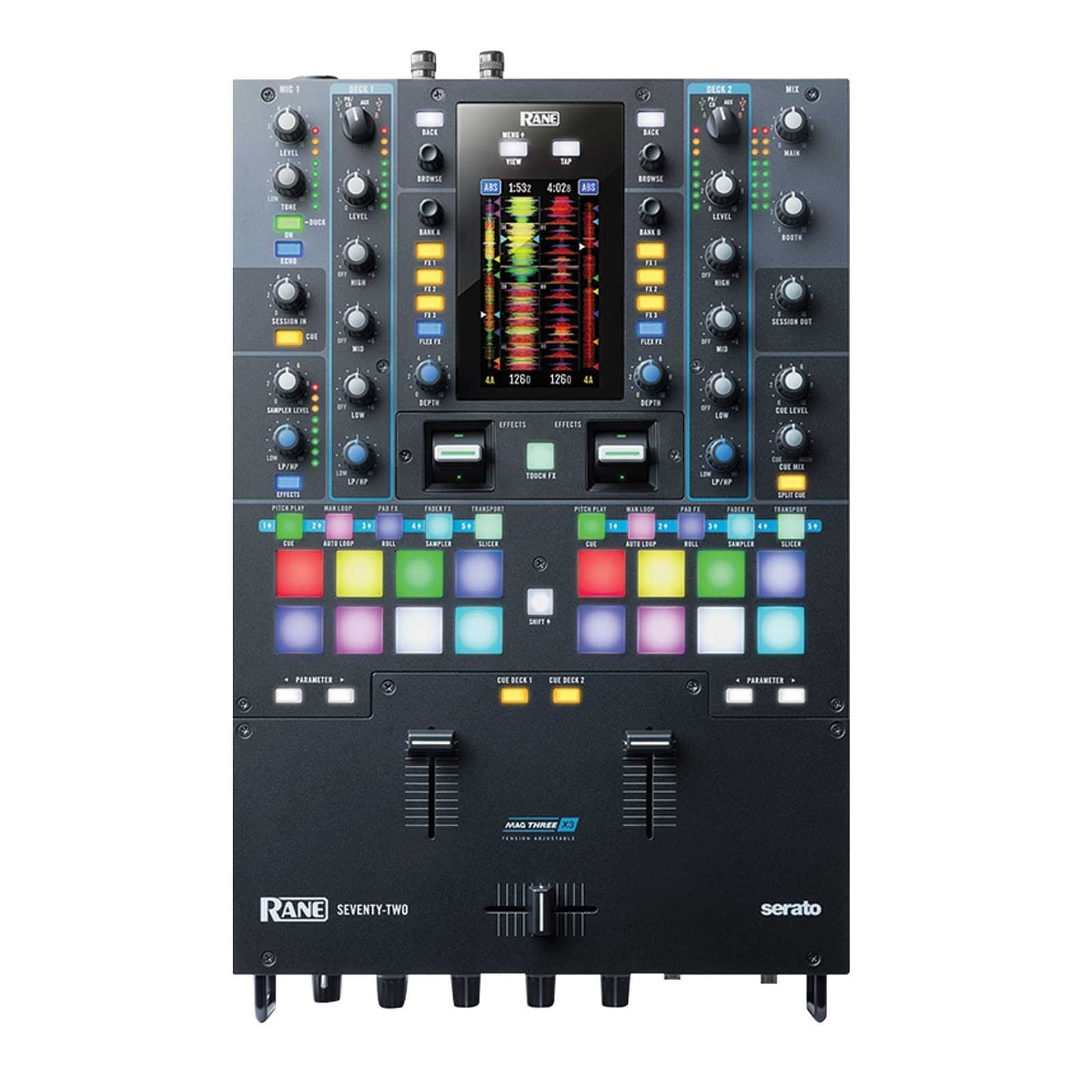 rane seventy two 2 deck performance mixer with touch screen prosoundgear. Black Bedroom Furniture Sets. Home Design Ideas