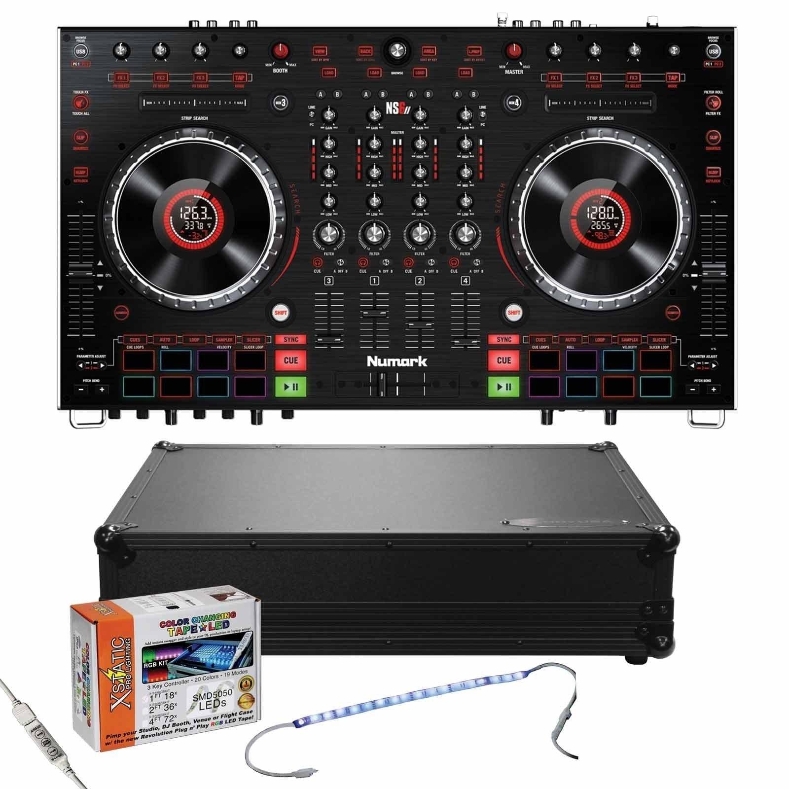 numark-ns6ii-4-channel-premium-dj-controller-black-glide-style-odyssey-case-package-b63