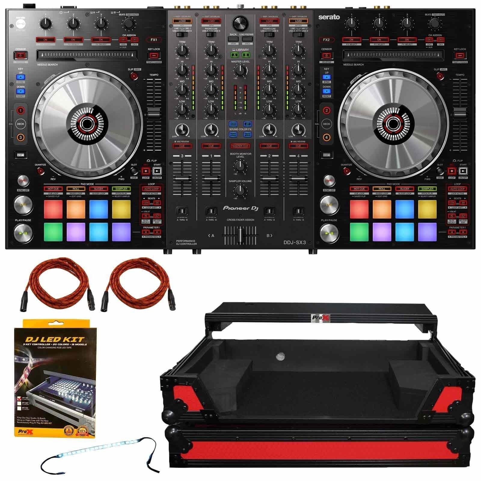 pioneer-dj-ddj-sx3-4-channel-serato-dj-pro-controller-with-red-on-black-controller-flight-case-package-10a