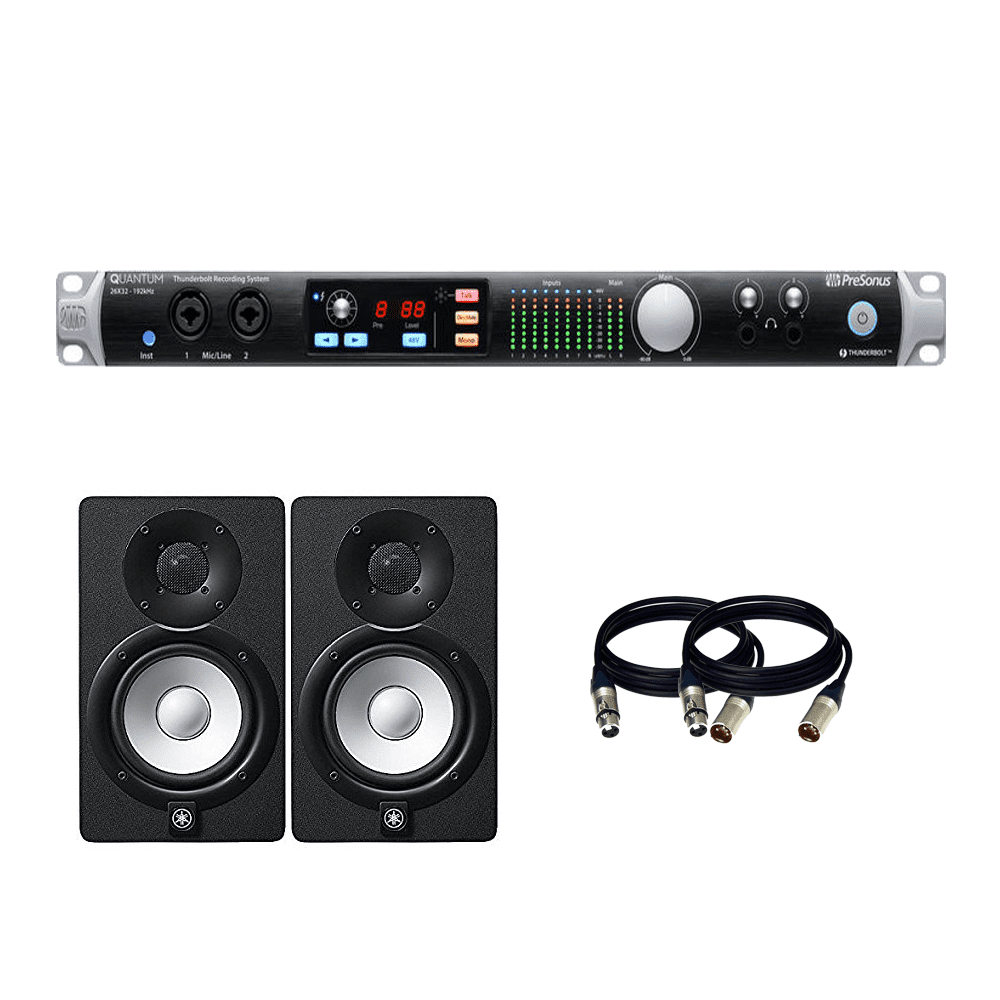 presonus quantum 26 32 thunderbolt 2 low latency audio interface yamaha hs5 powered studio. Black Bedroom Furniture Sets. Home Design Ideas