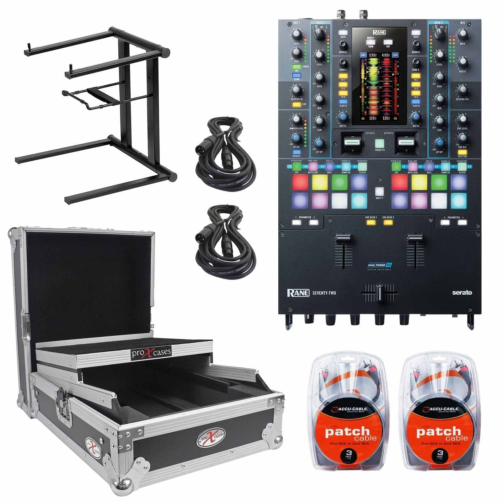 rane-seventy-two-mixer-with-large-format-12-mixer-case-foldable-portable-laptop-stand-packa