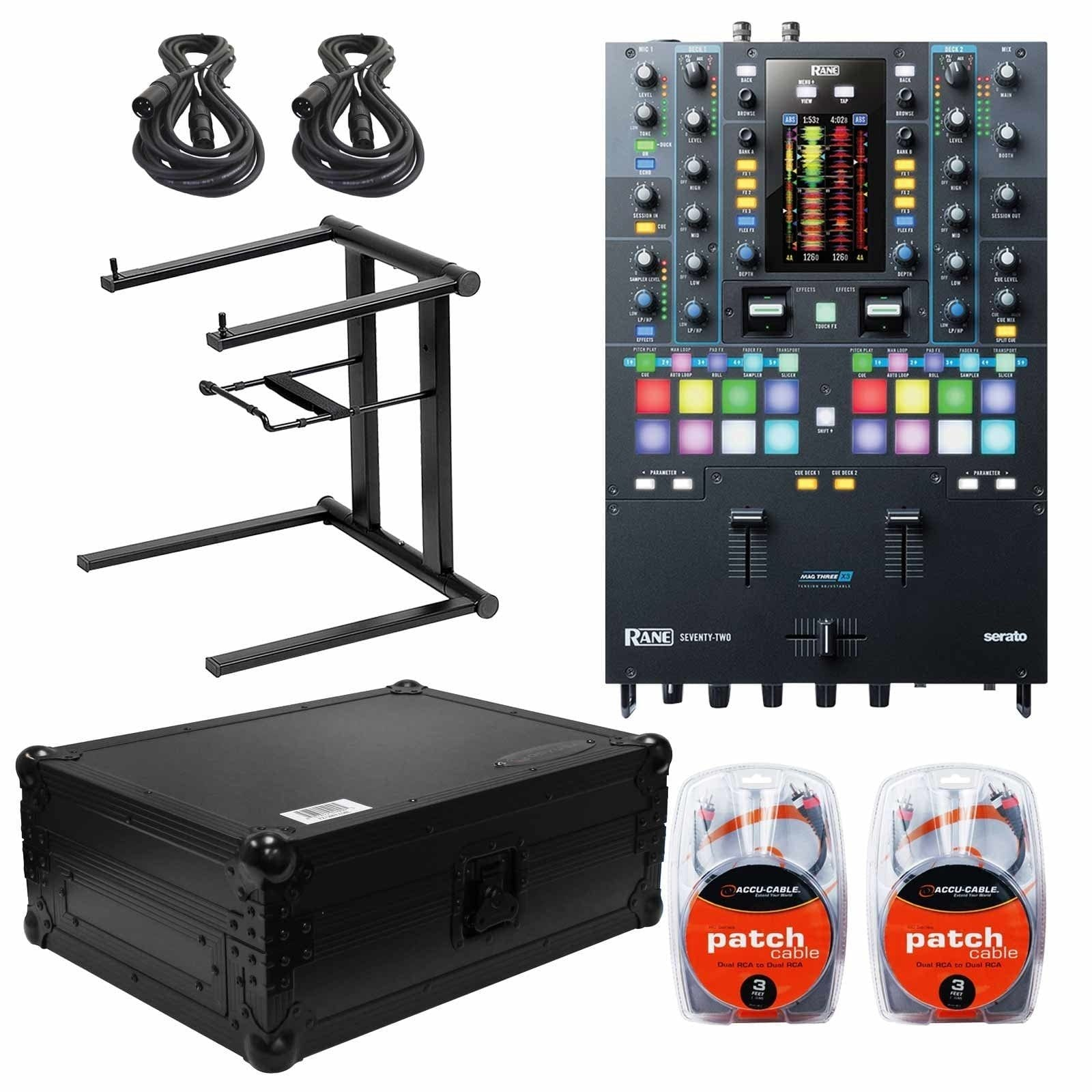 rane-seventy-two-mixer-with-odyssey-black-12-mixer-case-foldable-portable-laptop-stand-packa