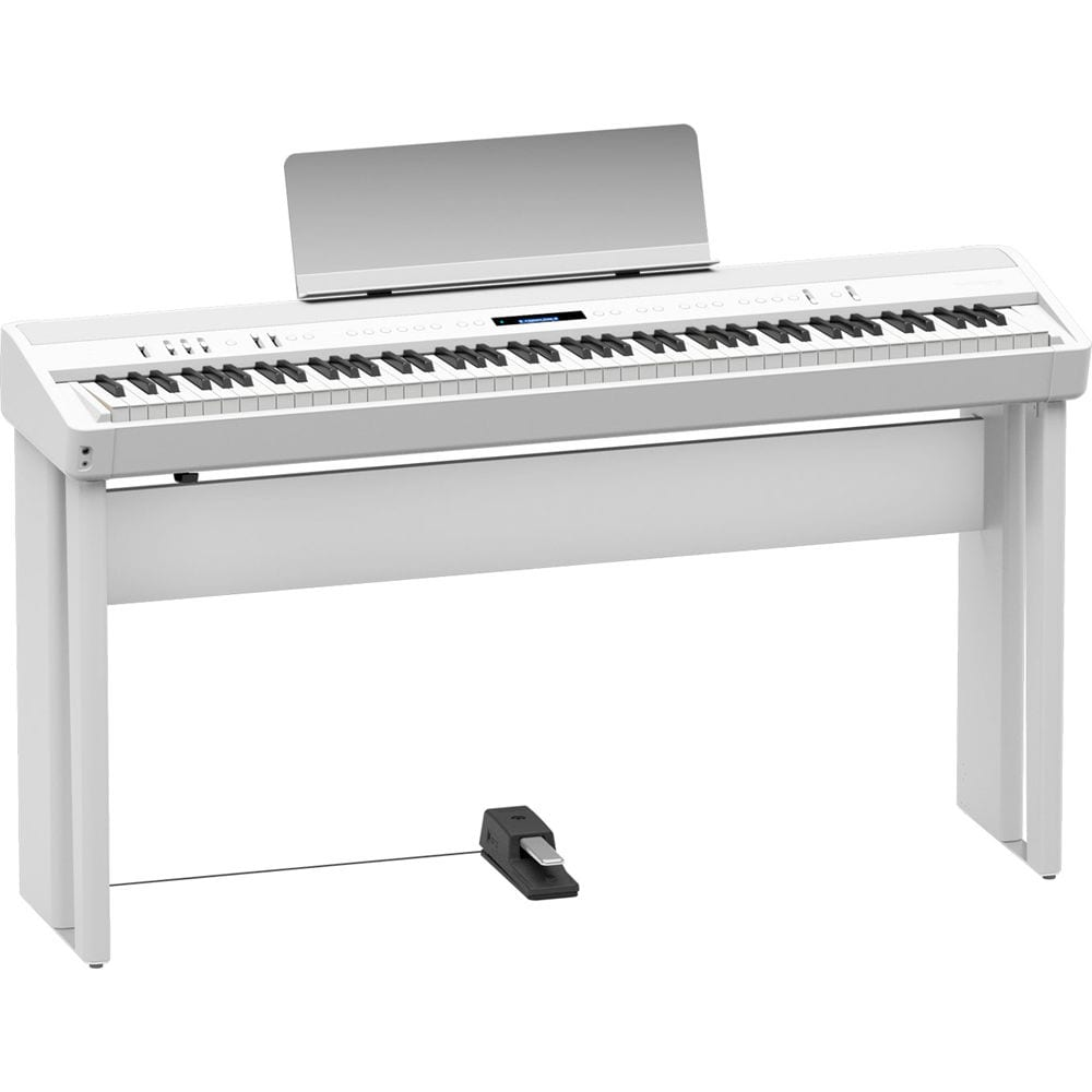 Roland Fp 90 Digital Piano White Mackie Thump12a Speaker Kit With Stand And Cable Prosoundgear