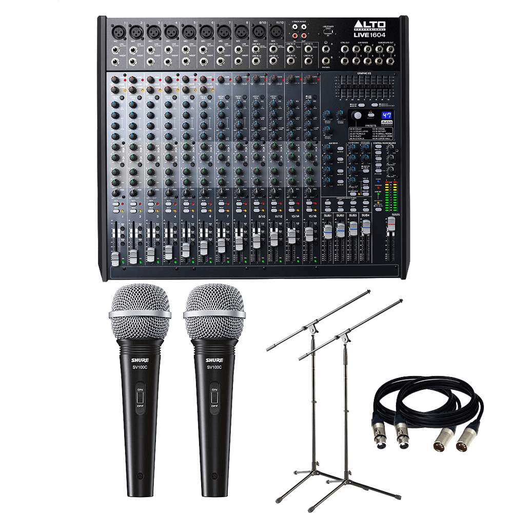Alto Professional Live 1604 16-Channel / 4-Bus Mixer w/USB, Superior