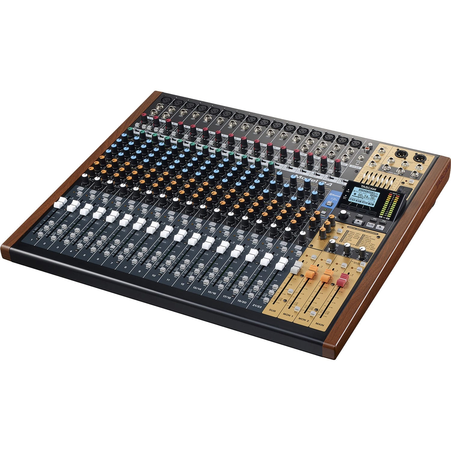 tascam model 24 digital mixer recorder and usb audio interface tascam th 07 high. Black Bedroom Furniture Sets. Home Design Ideas