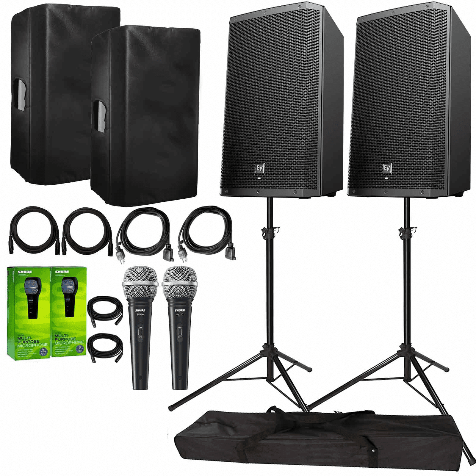electro-voice-zlx-15bt-active-15-bluetooth-speaker-package-with-2x-shure-sv100w-microphones-cables-covers-stands-75d