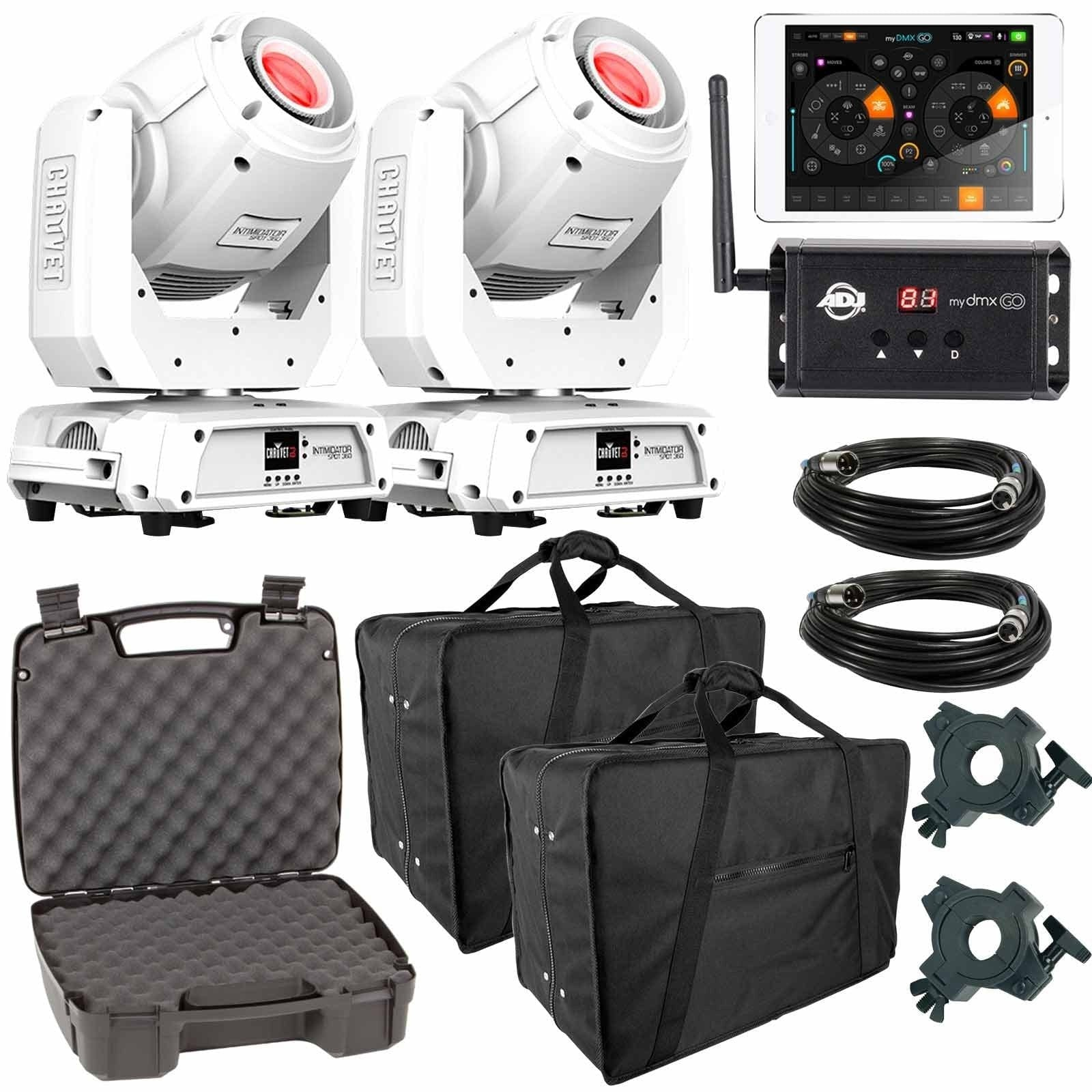 2-chauvet-dj-intimidator-spot-360-white-moving-heads-with-american-dj-mydmx-go-wireless-app-carrying-case-package-fbb