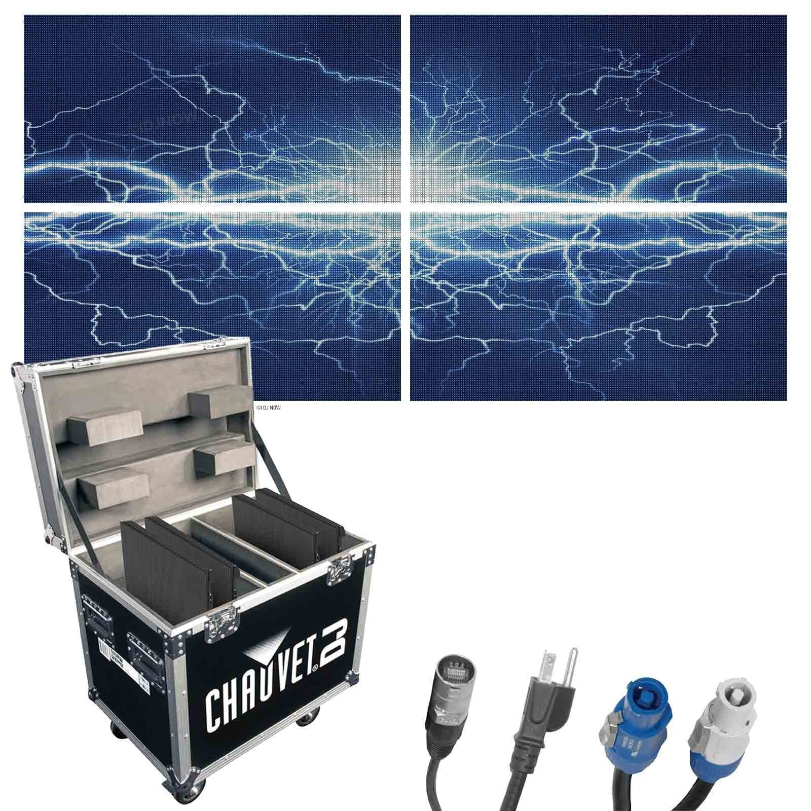 chauvet-dj-vivid-4x4-48mm-pixel-pitch-high-resolution-video-wall-package-includes-4-video-panels-all-cables-and-flight-case-d92