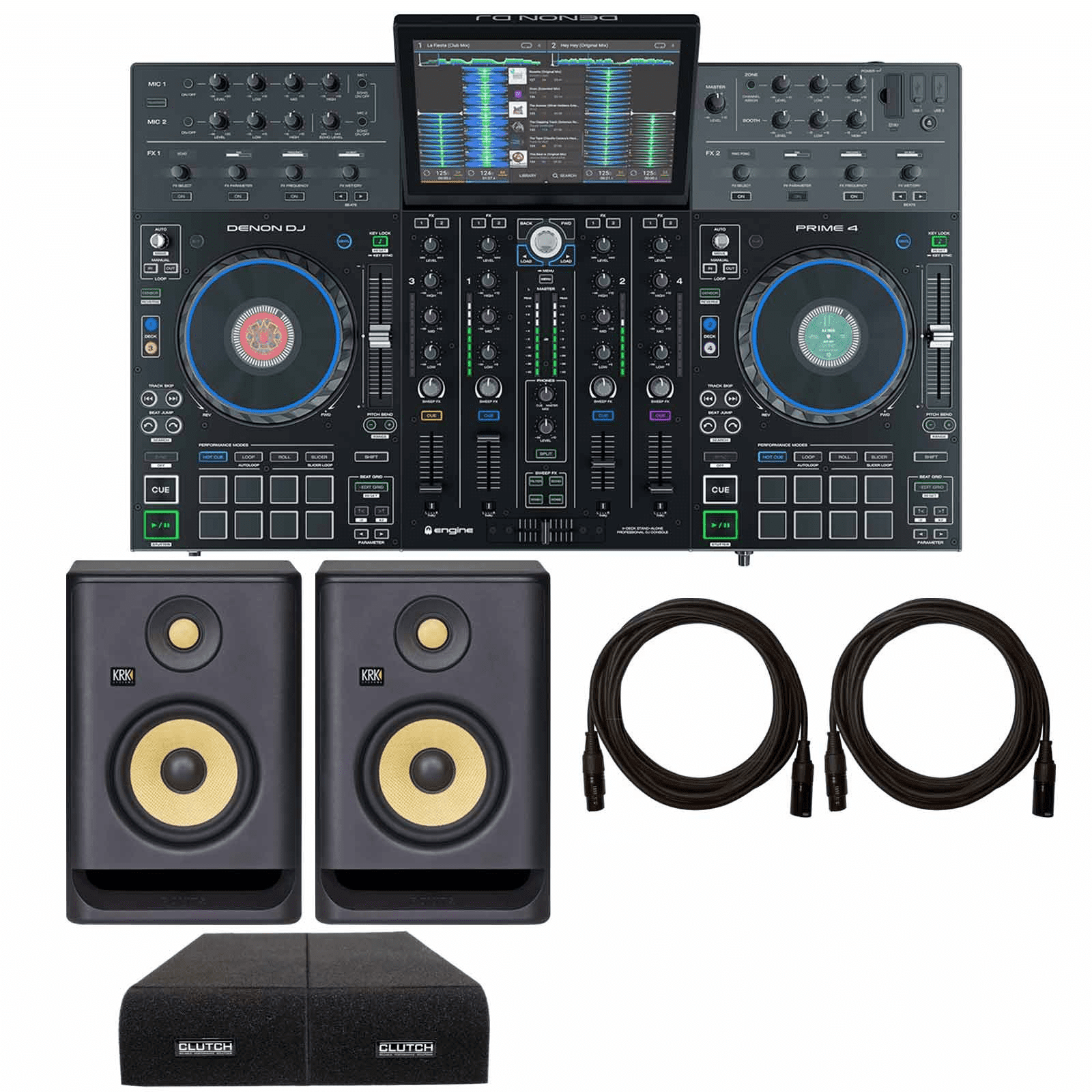 denon-dj-prime-4-4-deck-standalone-dj-system-with-krk-rokit-rp5-g4-5-powered-studio-monitor-speakers-package-a65