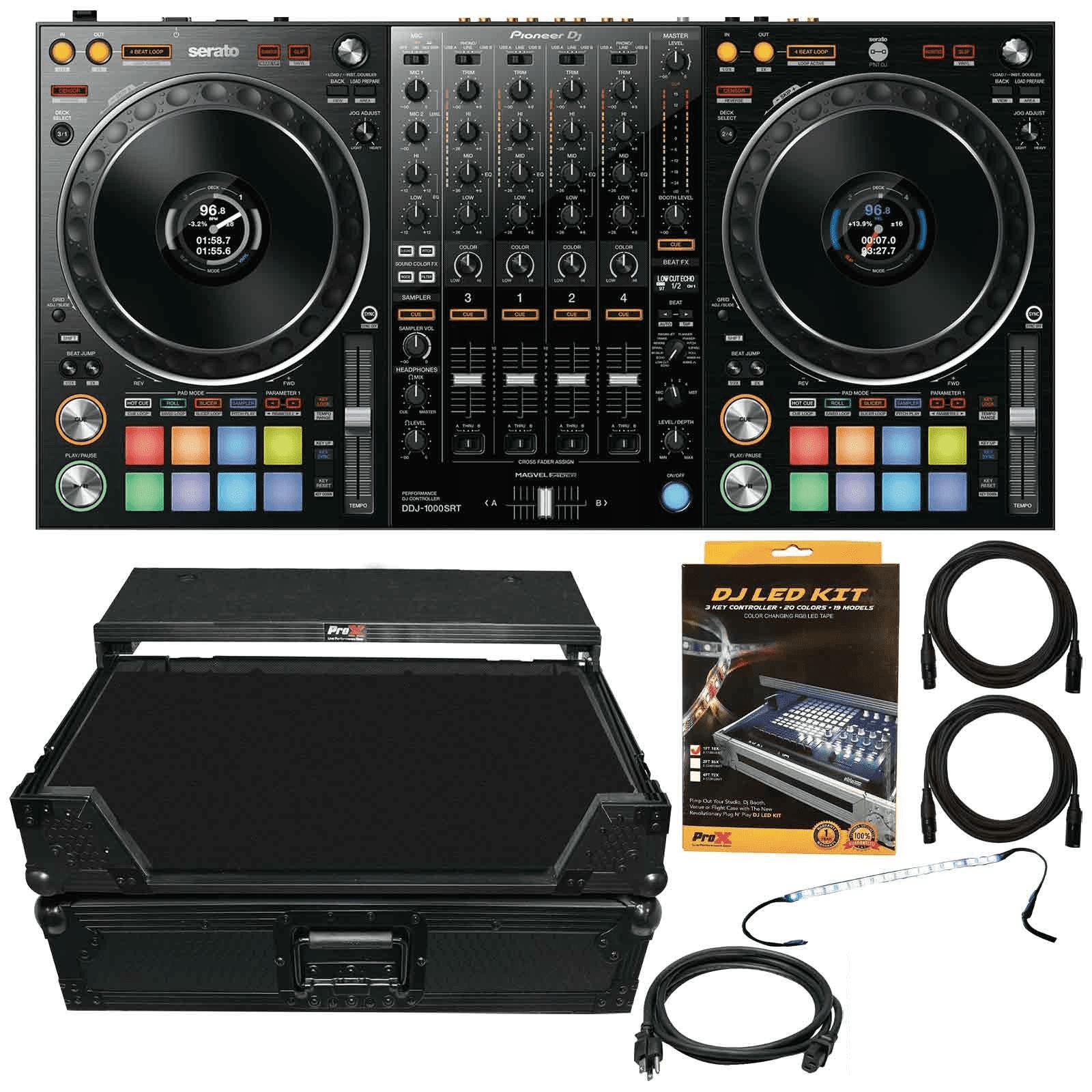 pioneer-dj-ddj-1000srt-4-channel-serato-controller-with-led-strip-light-kit-black-flight-case-package-0fc