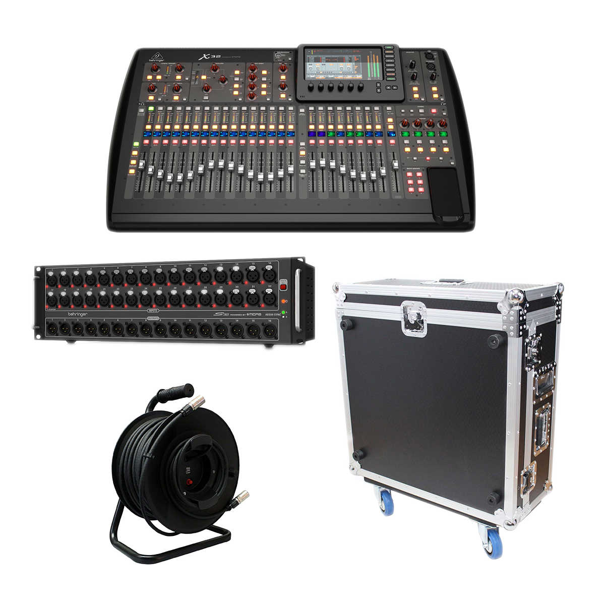 -3 Behringer X32 40-Channel - Behringer S32 Stage Box - Proco Cat6e 150Ft - XS-BX32DHW - $3699.98