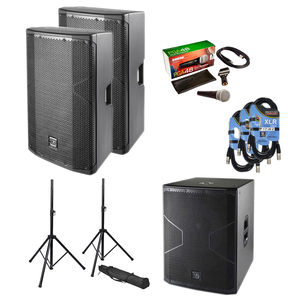 -3 DAS Altea 415A Pair - Speaker Stands - XLR Cables 3 - PG48 Mic - Das altea 718A - $1999.99