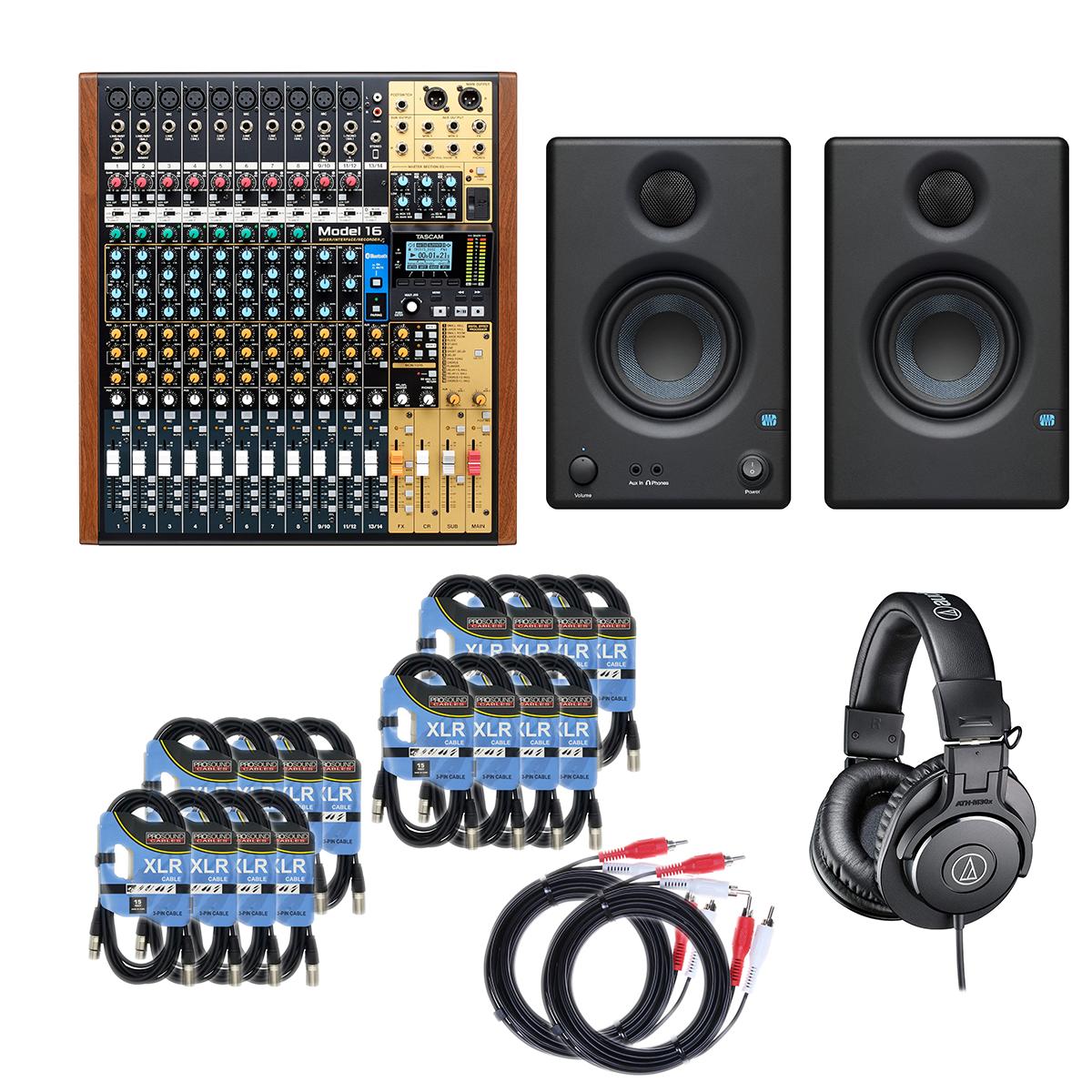 -3 Tascam Model 16 - ATHM30X - RCA Cables 2 - 16 XLR - Presonus Eris3.5 - $879.99
