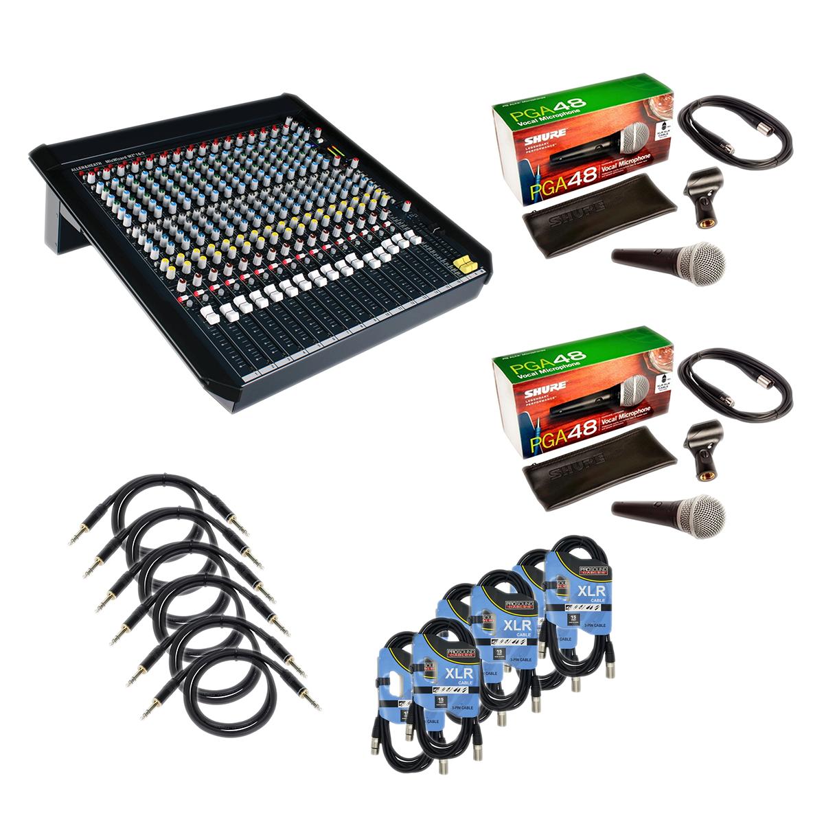 -4 Allen & Heath MixWizard4 WZ416-2 - 6 XLR Cables - 6 1:4 Cable - (2) PG48 - $1249.99