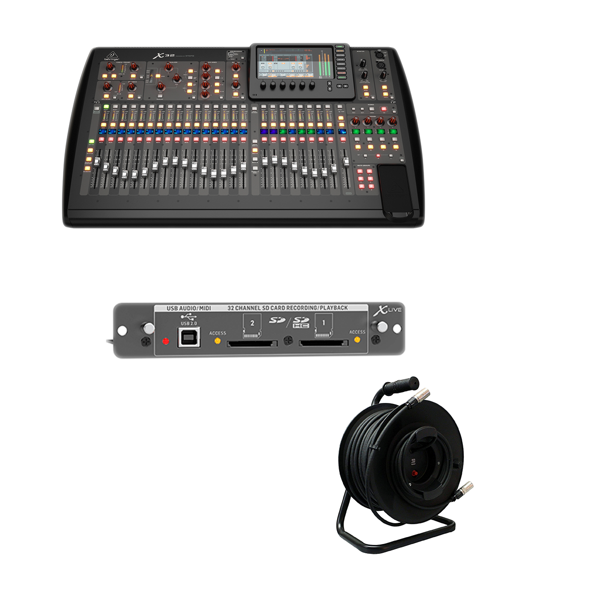 -5 Behringer X32 40-Channel - Proco Cat6e 150Ft - X-LIVE X32 Expansion Card - $2499.99