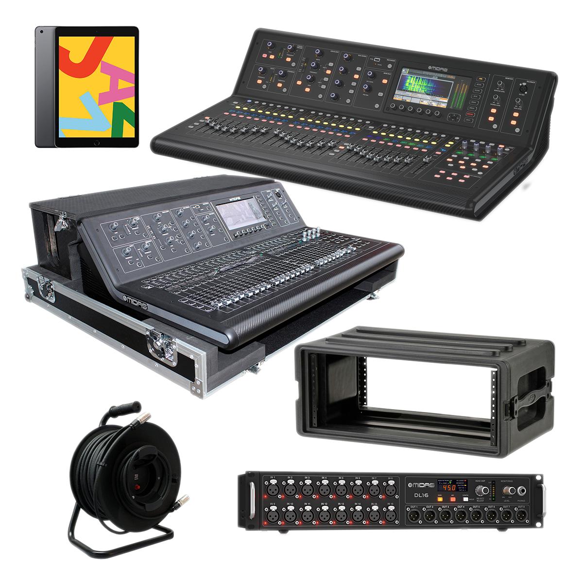 - 9 Midas M32 LIVE - ProX XS-MIDM32DHW - DL16 - Proco Cat6e 150Ft - Apple iPad - SKB 1SKB-R4S - $6399.99