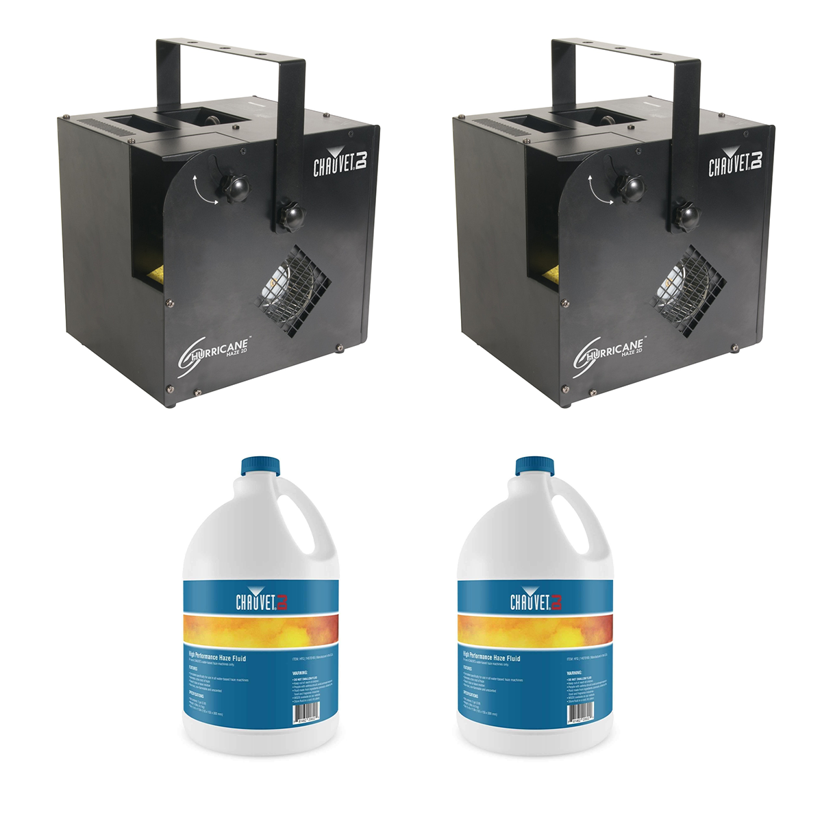 -4 Chauvet DJ Hurricane Haze 2D (Pair) - (2) Haze Gallon - $659.98