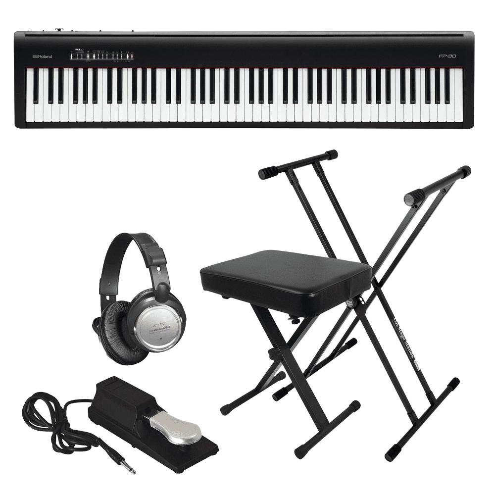 Roland Fp 30 Digital Piano Black Key Essentials Bundle Prosoundgear