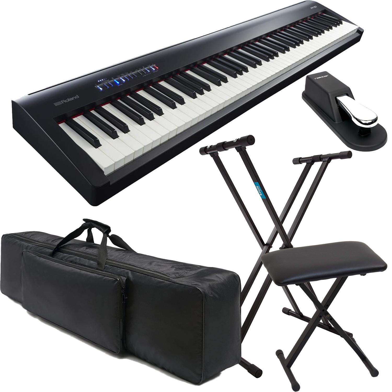 Roland Fp 30 Digital Piano Keyboard Stand Keyboard Bench Sustain Pedal Nktm 88 Gig Bag Bundle Prosoundgear