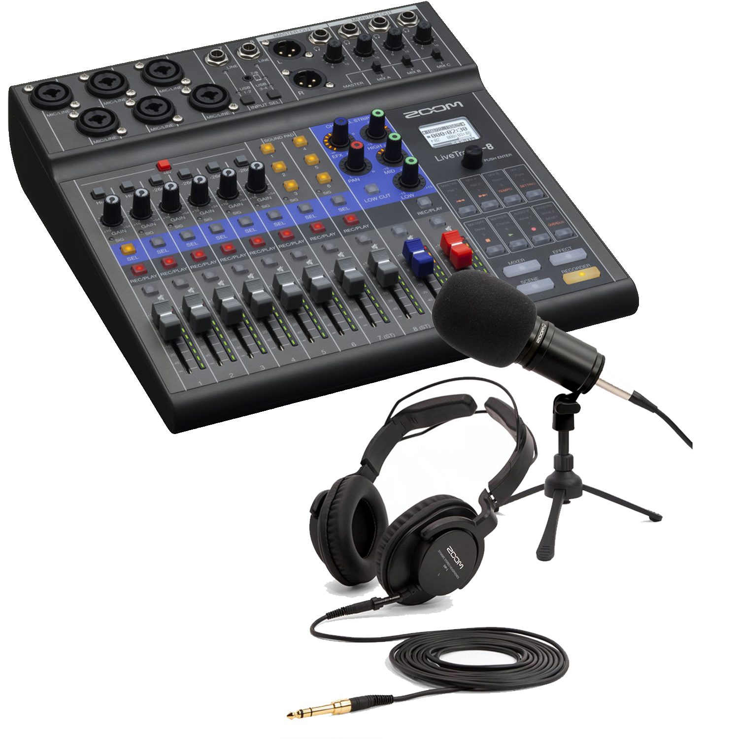 Zoom LiveTrak L-8 Portable Mixer Bundle 4