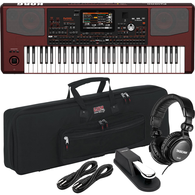 Korg Pa1000 61-Key Professional Arranger with Speakers Bundle 5