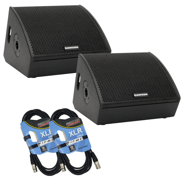 Samson RSXM10A – 800W 2-Way Active Stage Monitors Bundle 1