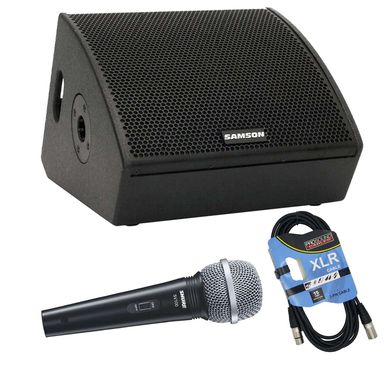 Samson RSXM10A – 800W 2-Way Active Stage Monitors Bundle 3